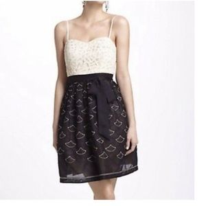 Anthropologie Meadow Rue Strapless Lace Dress